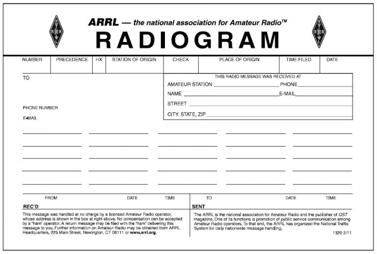 Blank radiogram