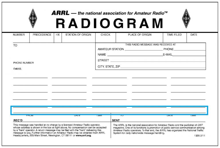 The radiogram's signature part.