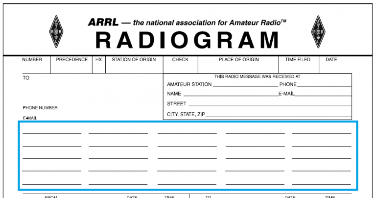 Radiogram's text section.