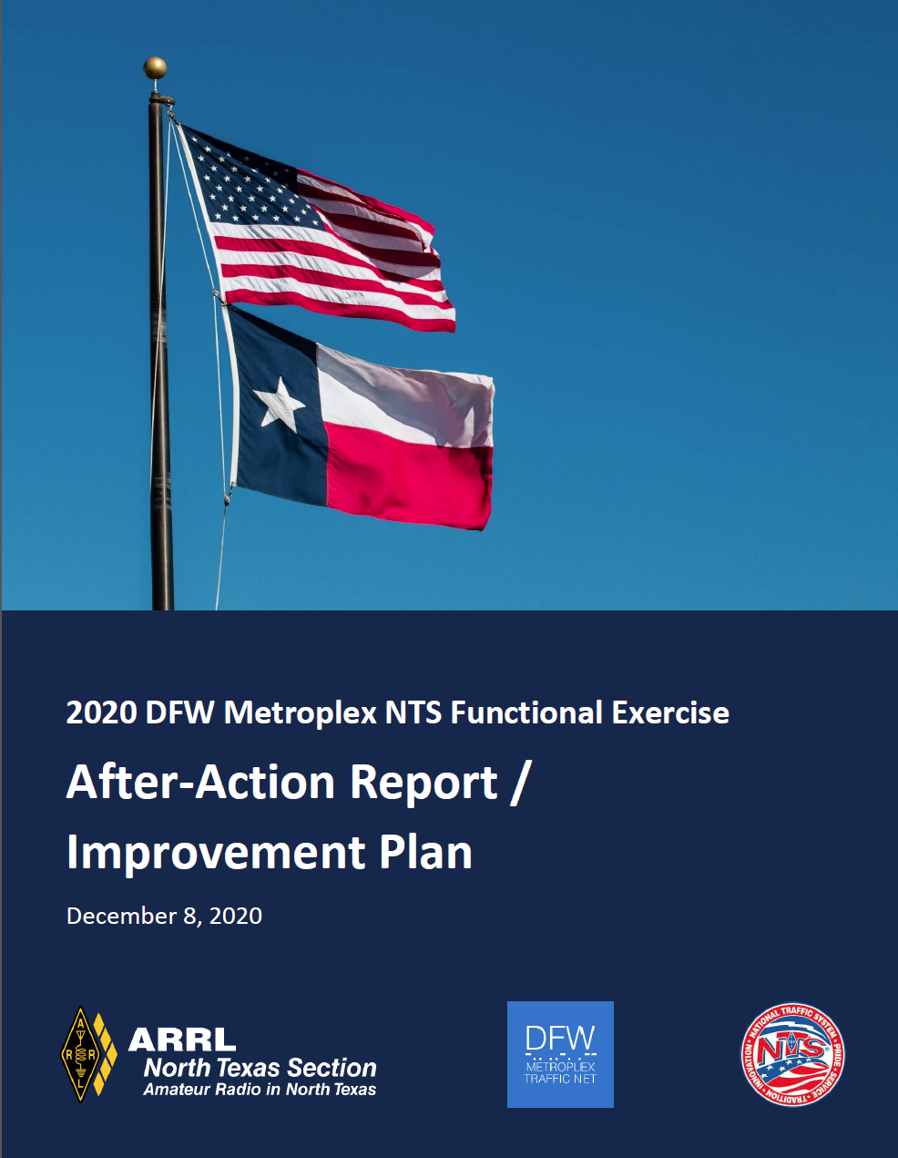 Download the 2020 DFW Metroplex NTS Functional Exercise After Action Report / Improvement Plan